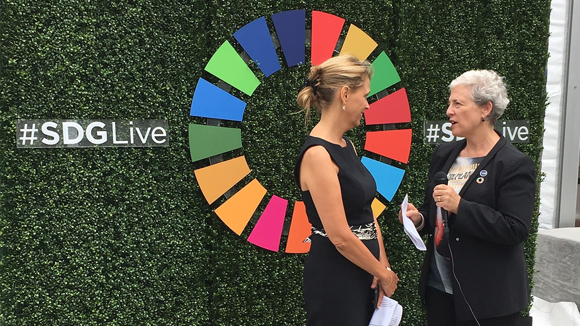 Susan Silbermann at #SDGLive